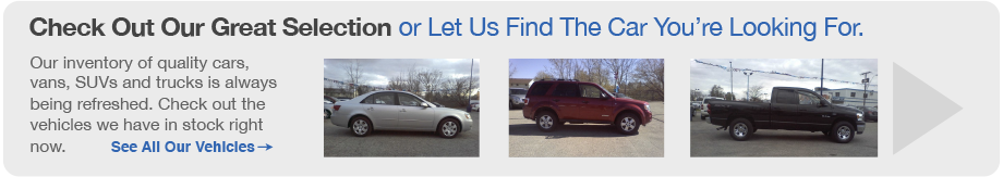 View our great selection of used vehicles